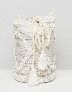 South Beach Drawstring Shoulder Bag In Natural