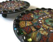 Ring Dish Candle Holders Trinket Holder Mosaic Art Home Decoration Broken China Metal Plate