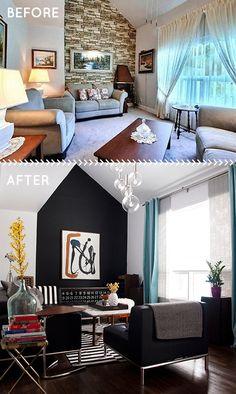 Before & After, 1950s House, via Design*Sponge