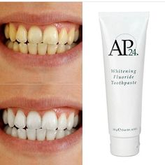 so I know y'all may have seen this crazy whitening toothpaste circulating. Benefits: - Brightens and Whitens teeth - helps remove stains -helps remove and prevent plaque buildup -helps prevention of dental caviti Nu Skin, Ap 24 Whitening Toothpaste, Whitening Fluoride Toothpaste, Skin Whitening, Remover Manchas, Coffee Staining, White Teeth, Anti Aging Skin Care, Health And Beauty