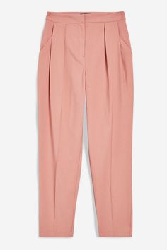 Tapered trousers with pleat detailing, creating a smart tailored look. Trouser Outfits, New Pant, Tapered Trousers, Black Trousers, Topshop Outfit, Hijab Fashion, New Outfits, Lounge Wear, Pajama Pants