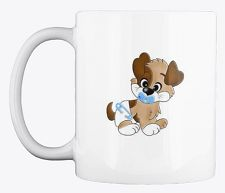 This cute puppy coffee mug design is perfect for dog and coffee lovers. As a dog lover, you'll be proud to be seen enjoying your coffee from this mug. It's also available in other colors, and it is the perfect gift for your dog friends or family members. Coffee Lovers, Dog Lovers, Coffee Mugs, Unique Image, Mug Designs, Dog Friends, Cute Puppies, Your Dog, Hilarious
