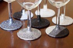glittered glassware, and its washable!