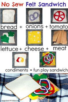 How to make a no sew felt sandwich
