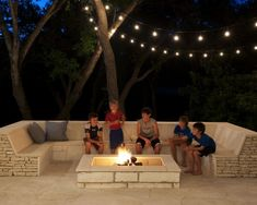 Fire Pit Seating Design, Pictures, Remodel - put this in front of the back of the garage