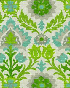 A Lynnette pick                                                         Waverly Outdoor Fabric-Sns Santa Maria  Mint Julep