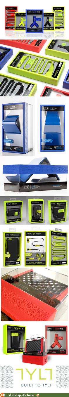 Beautifully designed packaging for all of TYLT's products.: