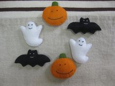Felt Halloween ornament by kimamaya on Etsy