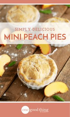 Factors You Need To Give Thought To When Selecting A Saucepan Savor The Flavors Of Summertime By Making These Cute And Delicious Mini Peach Pies. They're Easy To Make, Even For Pie Novices Mini Fruit Pies, Mini Peach Pies, Mini Pot Pies, Mini Pie Recipes, Peach Pie Recipes, Fruit Recipes, Dessert Recipes, Chef Recipes, Quick Recipes