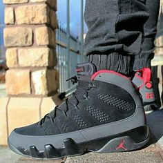 "Air Jordan 9 ""Charcoal"" reminds me of my childhood. I wish I would have kept all my Jordan's. Jordan Shoes Girls, Air Jordan Shoes, Girls Shoes, Jordan Sneakers, Jordan 9 Retro, Air Jordan 9, Zapatillas Jordan Retro, Sneakers Fashion, Shoes Sneakers"