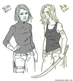 Sloane Leong Draws Ladies With Scars And Swords--Including 'Kill Bill: The Next Generation' [Art] - ComicsAlliance   Comic book culture, news, humor, commentary, and reviews