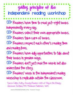 Guiding principles of independent reading workshop Reading Strategies, Reading Activities, Reading Skills, Teaching Reading, Reading Comprehension, Guided Reading, Partner Reading, Reading Groups, Reading Lessons