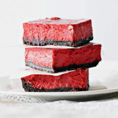 Recipe Red Velvet Cheesecake Slices by lalaskitchen - Recipe of category Desserts & sweets