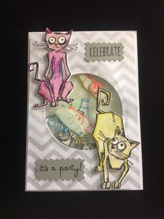 Crazy Cats Shaker Card  forever looking for good #tools