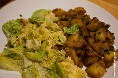 Wos zum Essn: Im Gewürzhimmel: Indische Würzkartoffeln mit Rahm-Wirsing