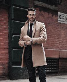 Men coat, coats for men, camel coat men, wool coat mens, mens dress Mens Dress Coats, Mens Wool Coats, Men Dress, Mens Overcoat, Mens Fashion Blog, Fashion Mode, Mens Fashion Suits, Woman Fashion, Fashion Ideas