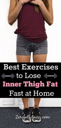 How to Get Rid of Inner Thigh Fat: 10 Best Exercises to Lose Thigh Fat at Home Best exercises to lose inner thigh fast at home.The leg workout target lower body fat and tone leg and thigh to make your legs skinnier and lean Lose Thigh Fat, Lose Belly Fat, Skinny Thighs, Lean Thighs, Lean Legs, Skinny Legs, Lower Body Fat, Lower Belly, Leg Workout At Home