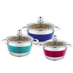 Sada 3 barevných hrnců s pokličkou Krauff Cook