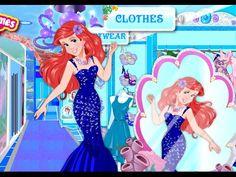 La Sirenita Ariel Paseo Compras - Juegos de La Sirenita