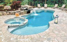 Backyard Pool Landscaping, Backyard Pool Designs, Swimming Pools Backyard, Swimming Pool Designs, Pool Spa, Inground Pool Diy, Lap Pools, Pool Cabana, Indoor Pools