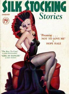 silk stocking stories - illustrator cardwell higgins, 1937