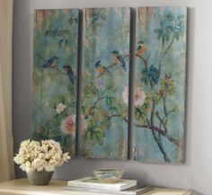 Pottery Barn Birds and Branches panels. Just found at their outlet! Great deal!