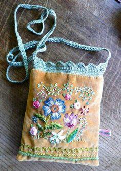 Turn something sweet into something else sweet. Yum embroidered velvet!