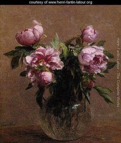 Vase of Peonies - Ignace Henri Jean Fantin-Latour - www.henri-fantin-latour.org