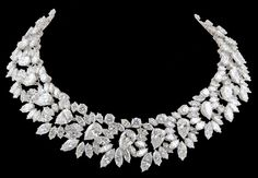 Can't imagine wearing something so exquisite and expensive.  Harry Winston wreath diamond necklace, mounted in platinum and containing a total weight of 146.67 carats in diamonds. USA. Circa 1964