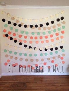 Diy pendants for photo booth backdrop