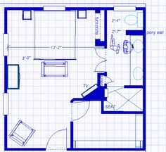 ensuite/master br layout...but take the walk in robe the full length of the bedroom, get rid of the bedroom chair, and enter via the middle of the left wall. PERFECT!