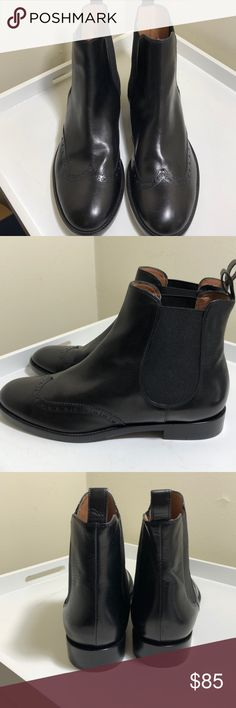 NWOT Size 9 Fratelli Rossetti black boots New!!! Never worn black Fratelli Rossetti short pull-on boots— perfect condition— side stretch— black Oxford detailing is a nice touch. Size 9. Fratelli Rossetti Shoes