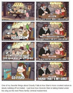 Gravity Falls, I love this family bonding. But notice how this seperates Mabel and Stan from Dipper and Ford.