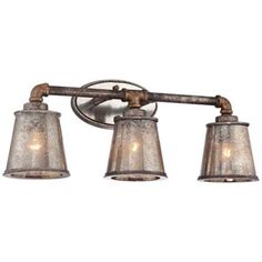 "Fillmore 23 1/4"" Wide Industrial Rust 3-Light Bath Fixture 200"