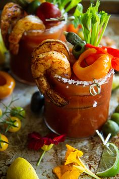 Quite possibly the most exquisite Bloody Mary I've ever laid eyes on. Gorgeous recipe from @heatherchristo for PW Food & Friends.