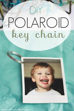 Easy DIY Polaroid Photo Keychain - Meet the Sullivans
