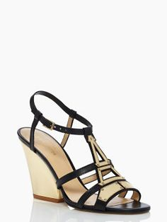 inoltra wedges - kate spade new york I love that the metal part looks like the Eiffel Tower