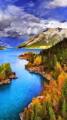 Abraham Lake - North Saskatchewan River - Alberta Rockies