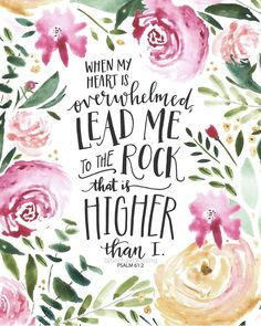 He's higher and elevates me!...above my experience. ✝️🌷 Scripture Cards, Bible Art, Bible Verses Quotes, Bible Scriptures, Faith Quotes, Bible Quotes For Women, Scripture Images, Psalm 61, Mothers Day Quotes