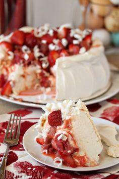 Strawberry Rhubarb Pavlova - SugarHero