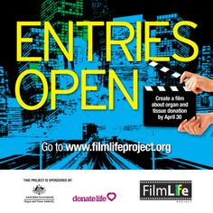 CALLING ALL EMERGING AND BUDDING FILMMAKERS to enter a three minute film to FilmLife Project 2014 to raise awareness of #organ and #tissuedonation and to be in the running for wonderful prizes including a sparkly new #Canon5DMkIII. Entries close 30 April 2014. #HaveTheChat #FilmLife #ItsUpToMe #DonateLife #CreativityChangesLives www.filmlifeproject.org