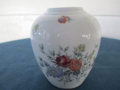 Vintage Asian Floral Ginger Jar Vase. Red Purple by BitofHope