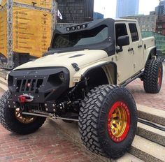 Jeep truck Must have lots of aftermarket parts. It's a beauty and I hope a beast too(sb)