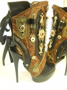 Victorian spats Steampunk Spats By J. Souza love a good oxford Kate Spade always knows the right thing to say heels Steampunk Spats, Costume Steampunk, Mode Steampunk, Steampunk Design, Steampunk Clothing, Steampunk Fashion, Steampunk Female, Victorian Steampunk, Gothic