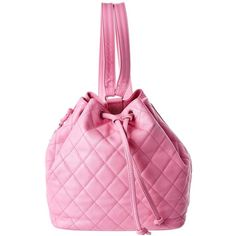Chanel Chanel Pink Quilted Caviar Leather Backpack | Bluefly.Com featuring polyvore women's fashion bags backpacks pink leather rucksack pink leather backpack leather zipper backpack pink backpacks chanel