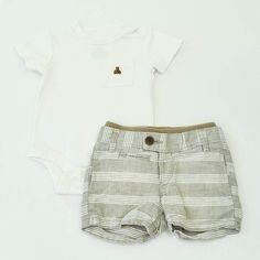 0fbb5a612a39 Baby Boy 3-6 mos. Onesie and Shorts- Gently Used- BabyGap- Click to see the  whole lot!