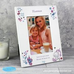This 'Me to You' Tiny Tatty Unicorn White 4x6 Photo Frame is a lovely gift for any New Baby. Personalise this White 4x6 Frame with any name at the top up to 20 characters followed by up to 2 lines at the bottom, 25 characters per line. Please note all personalisation is fixed uppercase Can be displayed hanging or standing to fit in the space available. Ideal for birthdays, new born, naming day. Shipping Weight: 0.506 KG Height: 22 CM Width: 17 CM Depth: 1.2 CM. What Can I Put on Personalised…