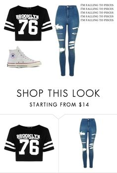 """""""🌠Would you please have mercy,mercy on my heart🌠"""" by jxst-like-galaxy ❤ liked on Polyvore featuring Boohoo, Topshop and Converse"""