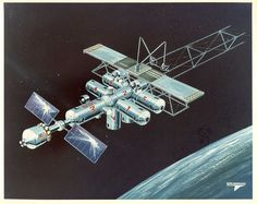 Grumman space platform art