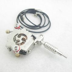 Mini Toy Tattoo Machine With Chain - Silver MTM05-SR [MTM05-SR] - $2.67 : Tattoo Supplies and Equipment from Bodyart-Mart